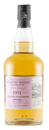 "Wemyss ""Apricot Oatmeal"" Blair Athol  27 Years Old 1991 Single Cask Scotch Whisky"